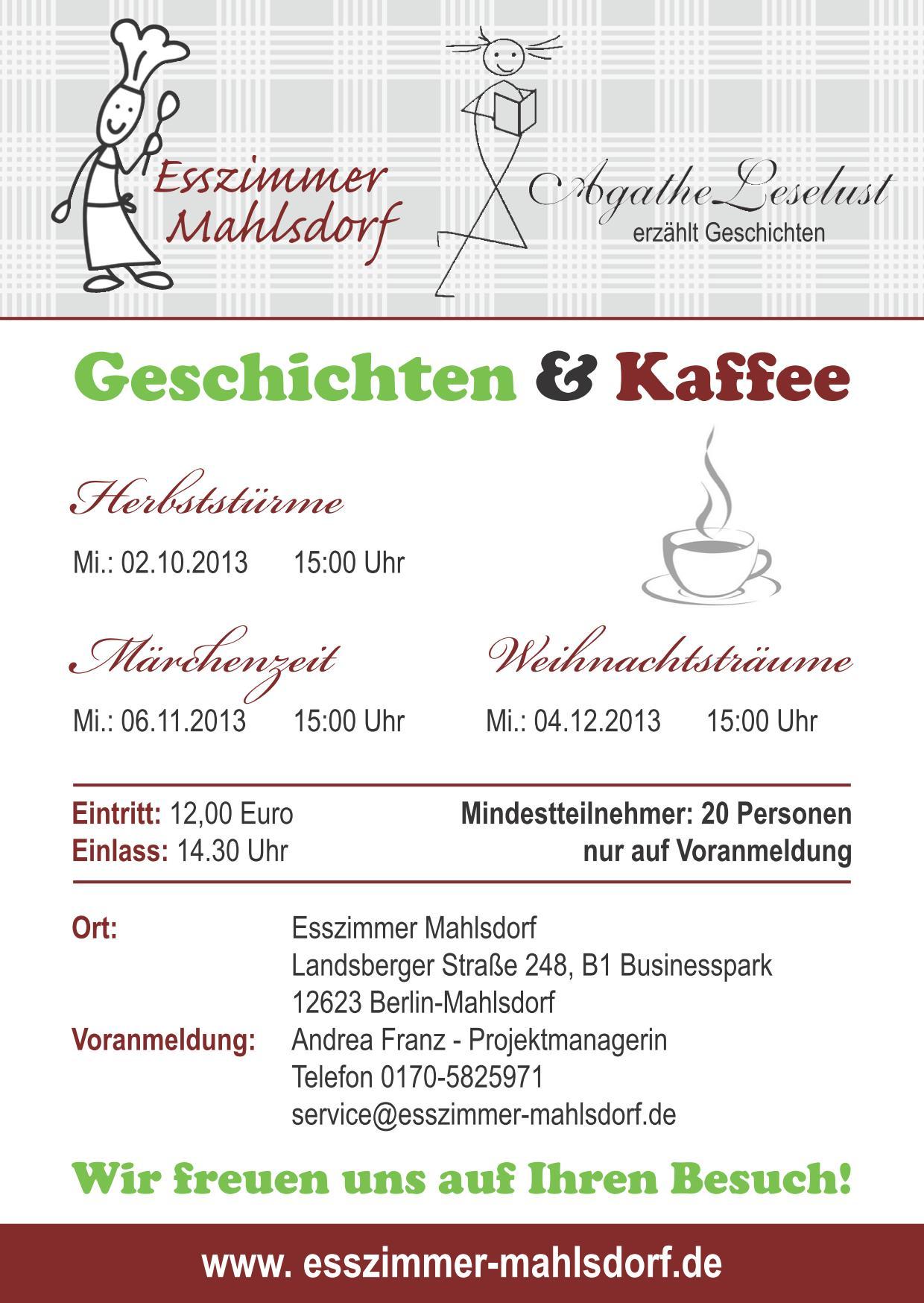 Agathe leselust geschichtenerz hlerin - Esszimmer mahlsdorf ...